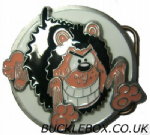 GNASHER ROUND Belt Buckle + display stand